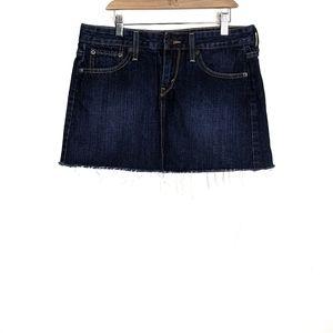 Levi's Cut-Off Denim A-Line Mini Jean Skirt